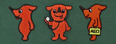 キャラクター刺繍