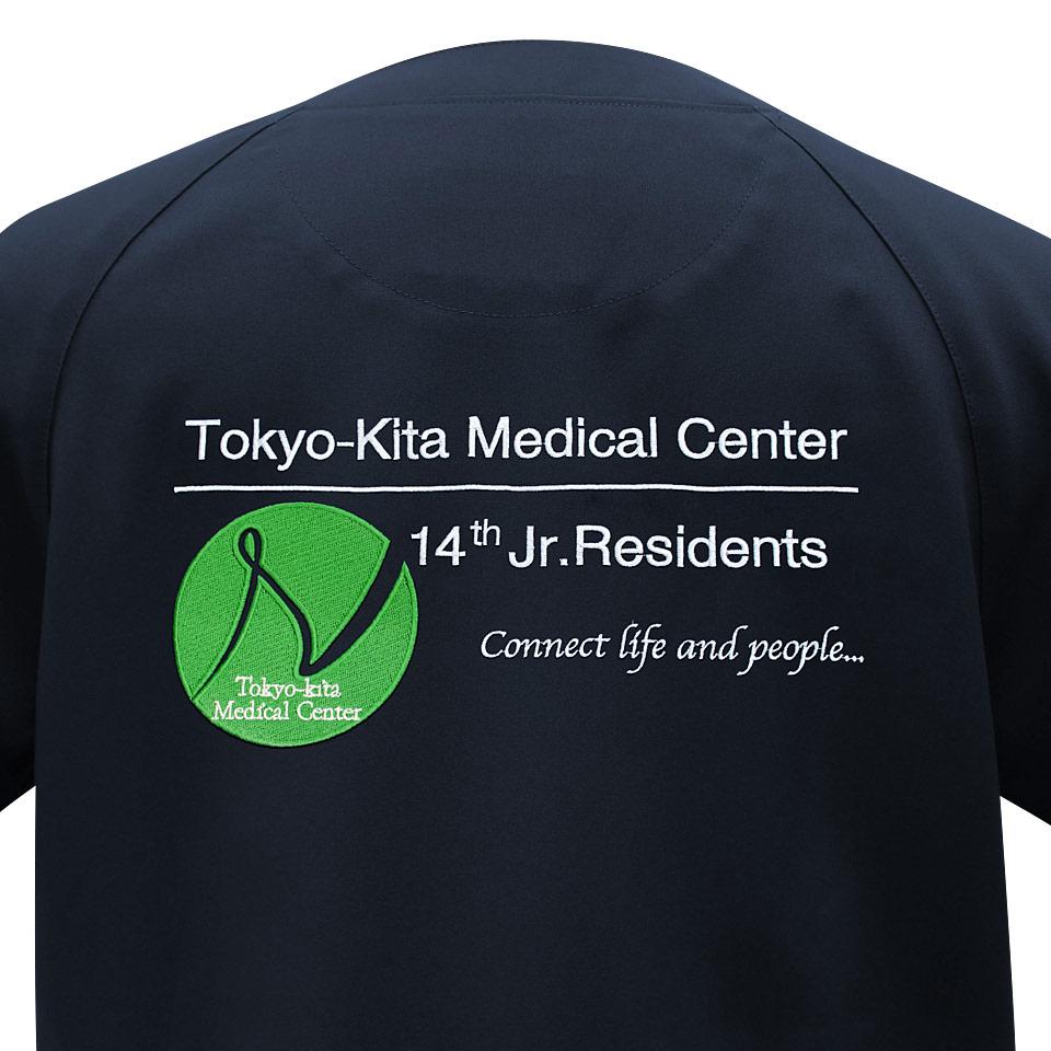 背中デザイン刺繍tokyo-kitamc柄