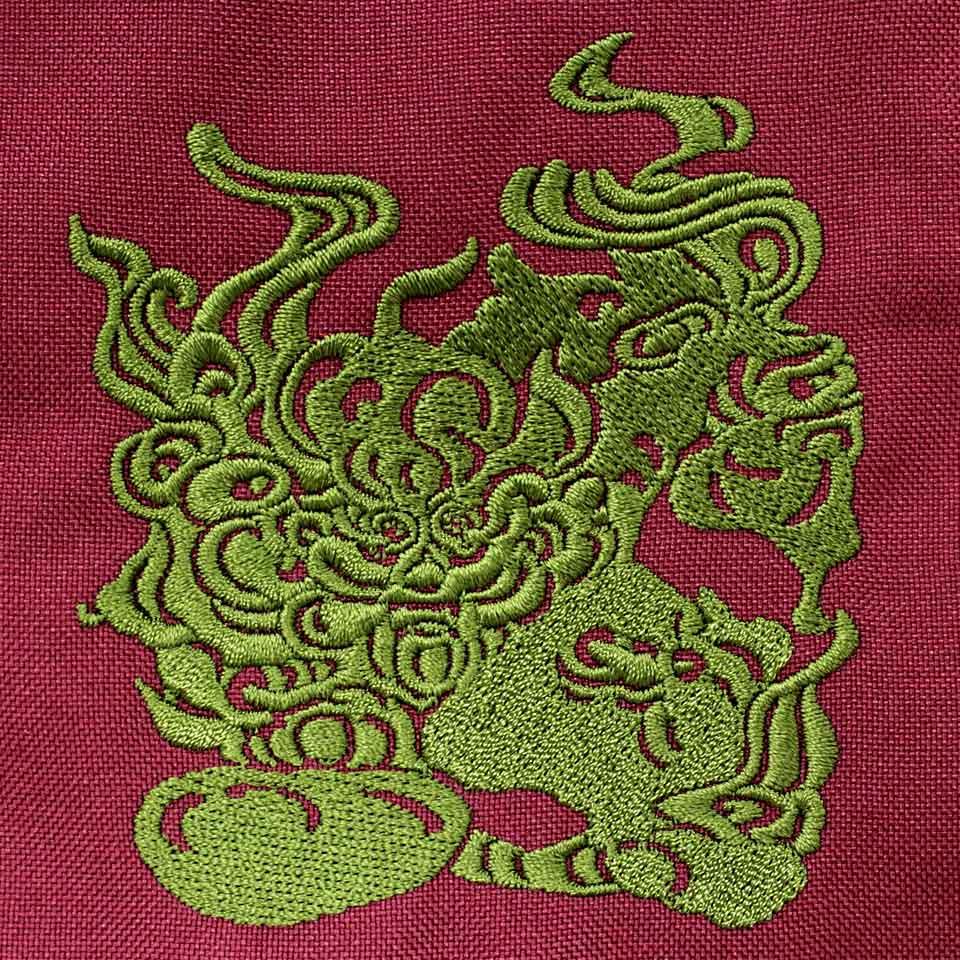 デザイン刺繍Ryukyuuniv.柄