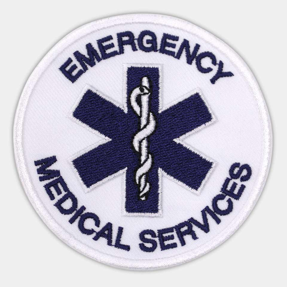 EMERGENCY MEDICAL SERVICES(直径8x8cm)