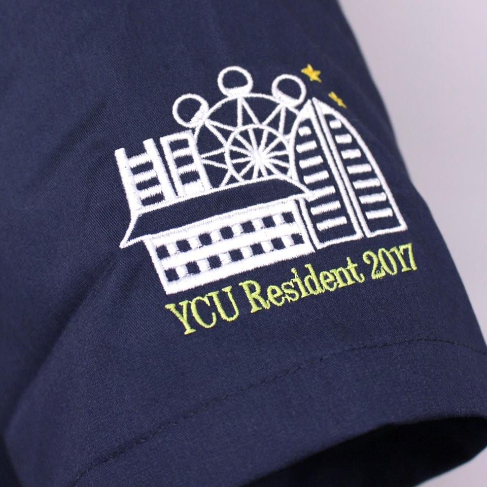 デザイン刺繍YCU柄
