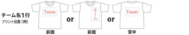 チーム名1行(10×30㎝)