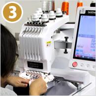 (3)刺繍加工作業
