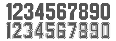 フォント 数字