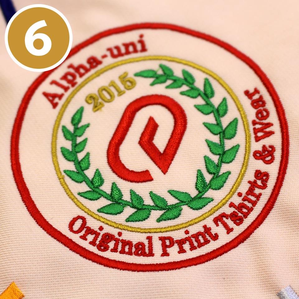(6)刺繍の試し縫いと確認