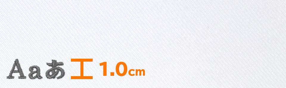 文字の高さ1.0cm