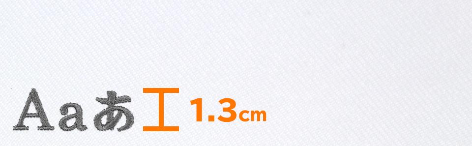 文字の高さ1.3cm