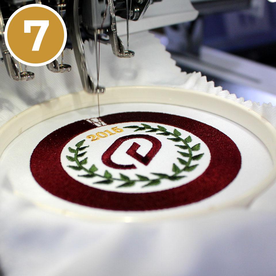 (7)刺繍の本縫い